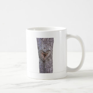 Tree heart basic white mug
