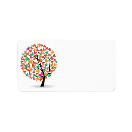 Tree Hearts Label