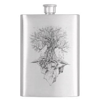 Tree Hip Flask