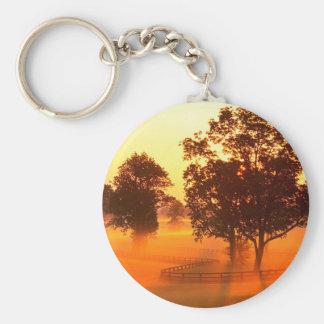 Tree Horse Farm Basic Round Button Key Ring