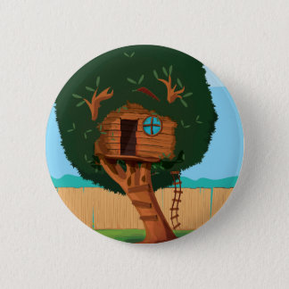 Tree house 6 cm round badge