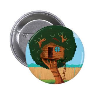 Tree house 6 cm round badge