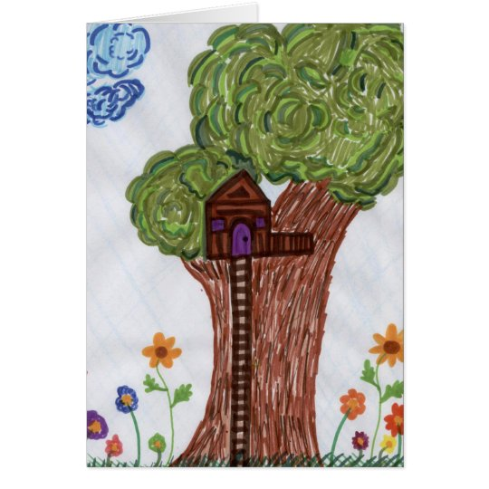 Tree House Blank Card