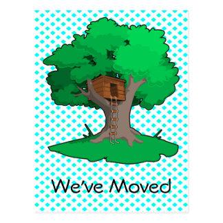 Tree House Change Of Address Postcard