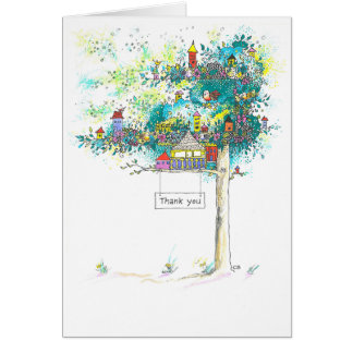 """Tree Houses"" Custom Thank You Note Card"