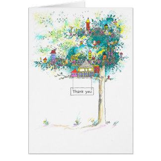 """Tree Houses"" Thank You Card"