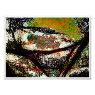 Tree Hub Abstract Expressionism Poster Print