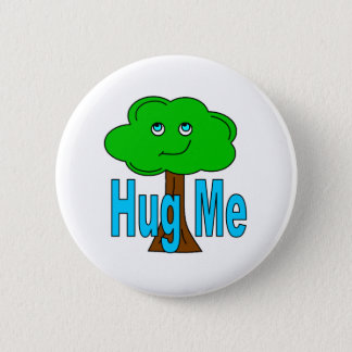Tree Hugger 6 Cm Round Badge