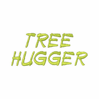 Tree Hugger Embroidered Men's Shirt Embroidered Hoodie