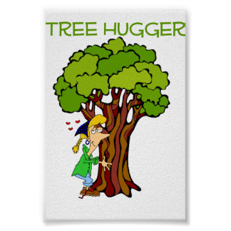 Tree Hugger - Girl Poster