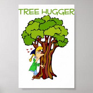 Tree Hugger - Girl Posters