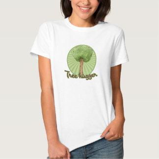 Tree Hugger green trees Tshirt