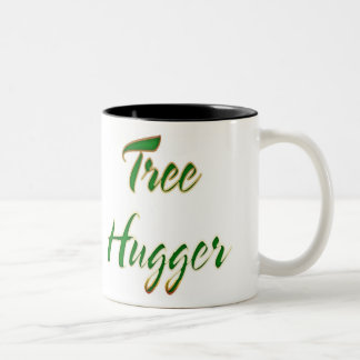 Tree Hugger Green Two-Tone Coffee Mug