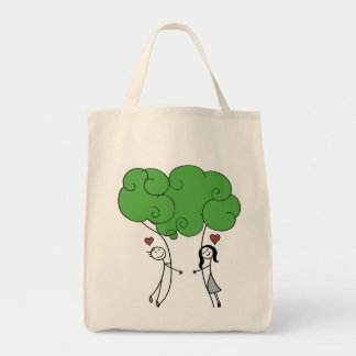 Tree Hugger Grocery Tote Grocery Tote Bag
