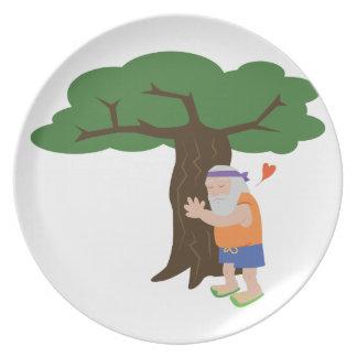Tree Hugger Man Dinner Plates