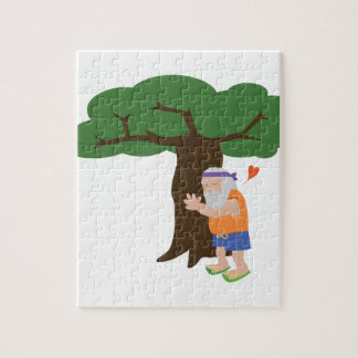 Tree Hugger Man Jigsaw Puzzle