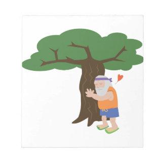 Tree Hugger Man Notepads