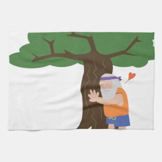 Tree Hugger Man Tea Towel