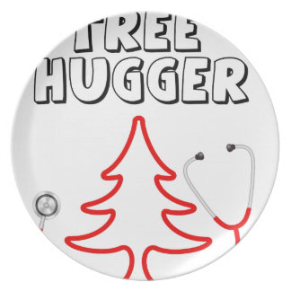 Tree Hugger Party Plate