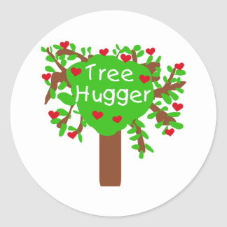 Tree Hugger Round Sticker