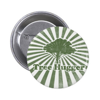 Tree Hugger Think Green 6 Cm Round Badge