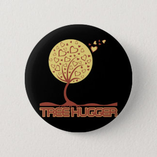 Tree Hugger Tree Hearts 6 Cm Round Badge
