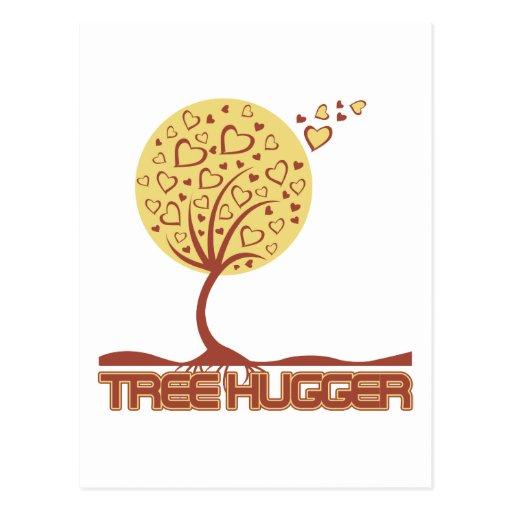 Tree Hugger Tree Hearts Post Cards