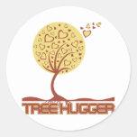 Tree Hugger Tree Hearts Round Sticker