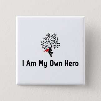 Tree Hugging Hero 15 Cm Square Badge