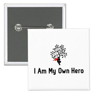 Tree Hugging Hero 15 Cm Square Badge