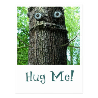 Tree Hugging Postcard