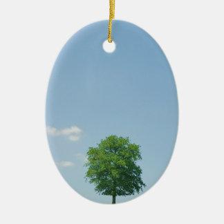 Tree in  a field 2 ceramic ornament