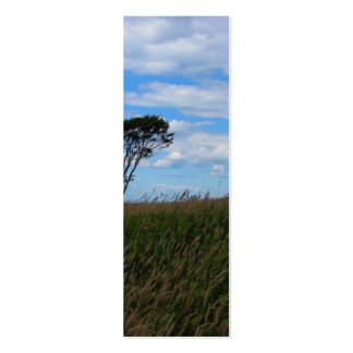 Tree in a Wheat Field Business Card Templates