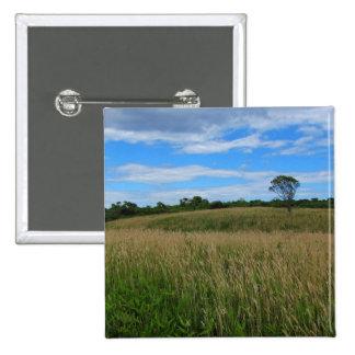 Tree in a Wheat Field Pin