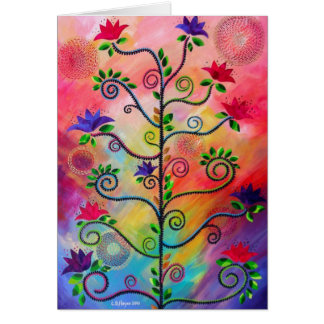 """""""Tree in Bloom Two"""" note card by CatherineHayesArt"""
