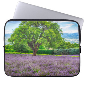 Tree in Lavender Field, France Laptop Sleeve