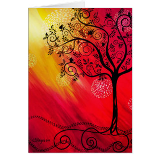 """""""Tree in Silhouette"""" by CatherineHayesArt Card"""