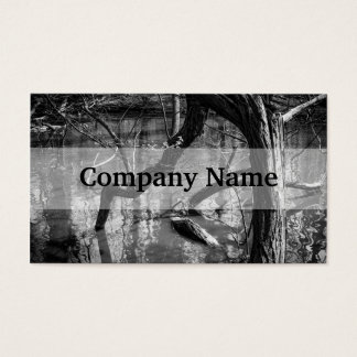 Tree In Water, Dark Horror Photograph, Woods Business Card