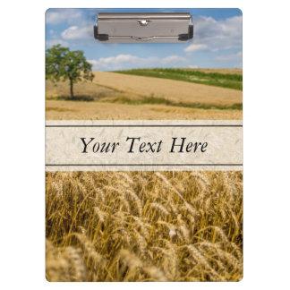 Tree In Wheat Field Landscape Clipboards