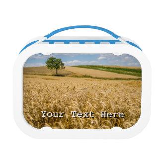 Tree In Wheat Field Landscape Lunchboxes