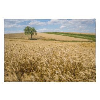 Tree In Wheat Field Landscape Placemat