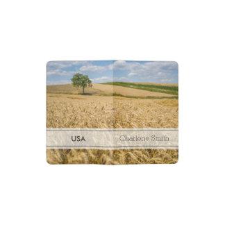 Tree In Wheat Field Landscape Pocket Moleskine Notebook