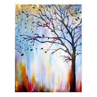 Tree in Wind Postcard