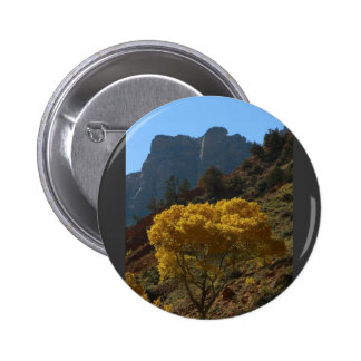 Tree In Zion National Park Button