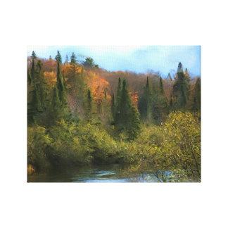 Tree Landscape Autumn Glow Canvas Print