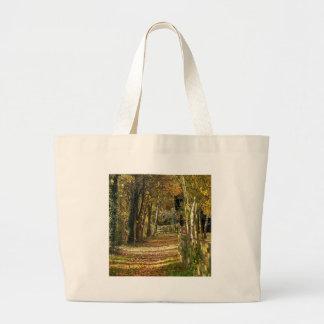 Tree Light Of Autumn Jumbo Tote Bag