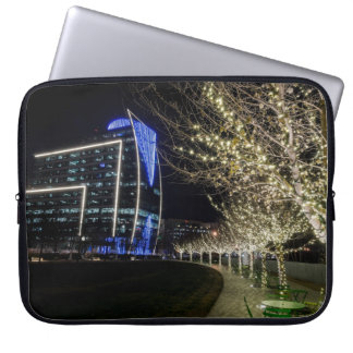 Tree Lights At Klyde Warren Park Laptop Sleeve