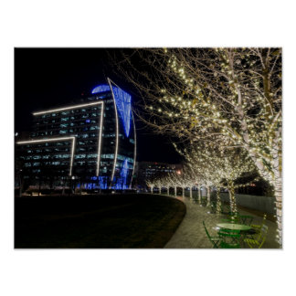 Tree Lights At Klyde Warren Park Poster