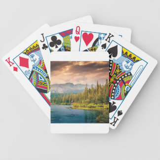 tree line in the wilderness bicycle playing cards