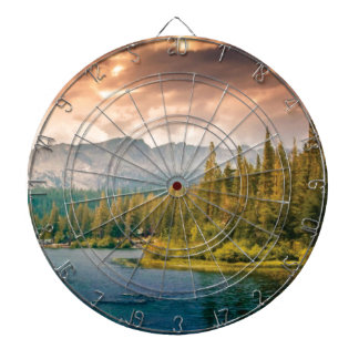 tree line in the wilderness dartboard